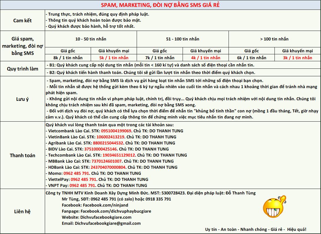 Spam, Marketing, Đòi Nợ Bằng SMS